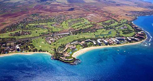 Kaanapali Beach Aerial View