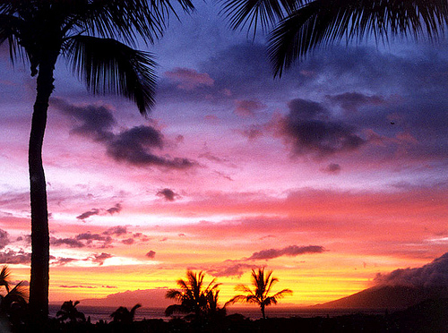 wailea maui sunset